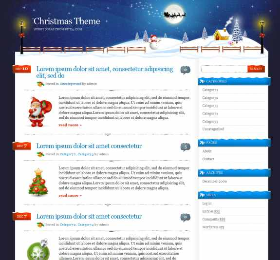 Site5.com wordpress theme cristmas