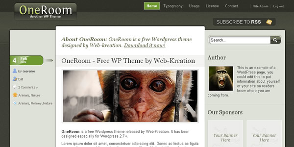 oneroom wordpress thema